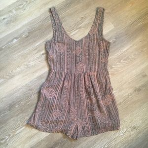 Roxy pink and grey romper S